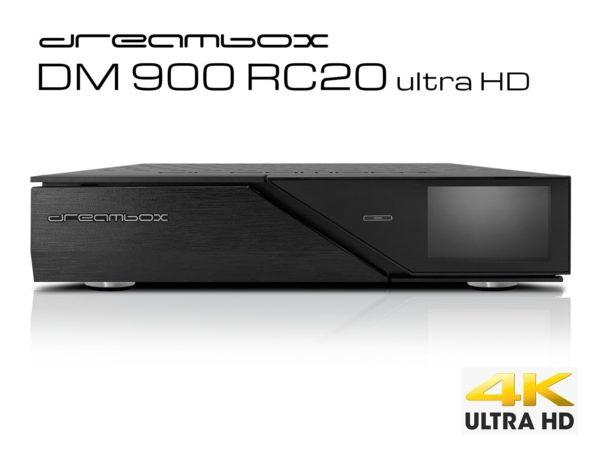 Dreambox DM900 RC20 UHD 4K 1x Dual DVB-C/T2 Tuner 1 TB HDD E2 Linux PVR Receiver