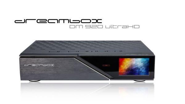 Dreambox DM920 UHD 4K 1x DVB-C/T2 Dual Tuner E2 Linux 5 TB HDD Receiver
